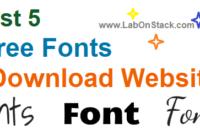 Free Fonts Websites